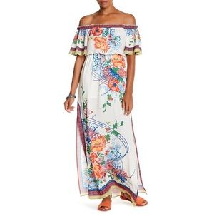 Flying Tomato Floral Print Off shoulder Maxi Dress
